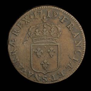 France, Louis XV, 1 sol : 1719