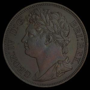 Great Britain, George IV, 1/50 dollar : 1823