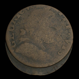 Canada, unknown, 1/2 penny : 1838