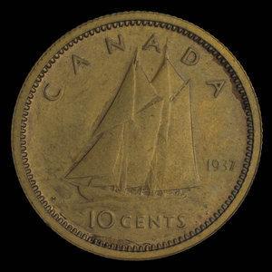 Canada, George VI, 10 cents : 1937