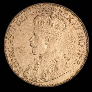 Canada, George V, 1 cent : 1929