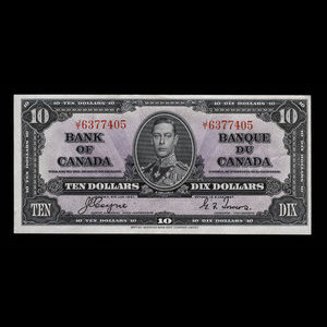 Canada, Bank of Canada, 10 dollars : January 2, 1937