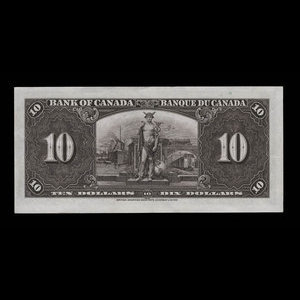 Canada, Bank of Canada, 10 dollars : January 2, 1937