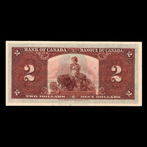 Canada, Bank of Canada, 2 dollars : January 2, 1937