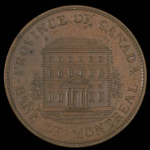 Canada, Bank of Montreal, 1/2 penny : 1845