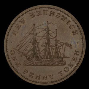 Canada, Province of New Brunswick, 1 penny : 1843