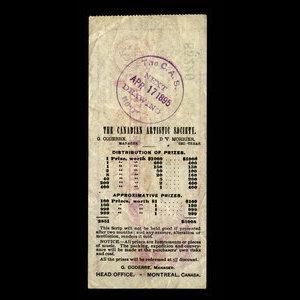 Canada, Canadian Artistic Society Limited, no denomination : April 17, 1895