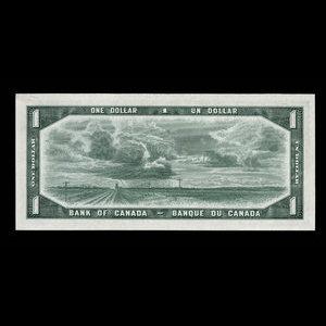 Canada, Bank of Canada, 1 dollar : 1954