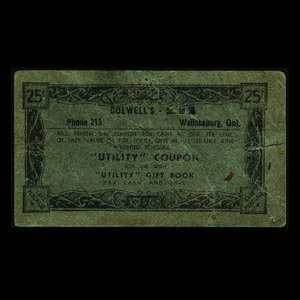 Canada, Colwell's, 25 cents : 1960