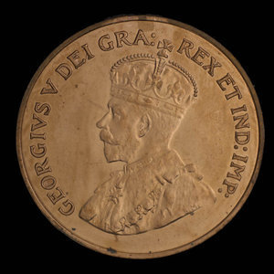 Canada, George V, 1 cent : 1925