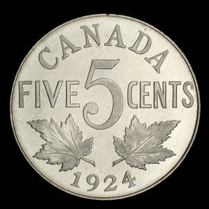Canada, George V, 5 cents : 1924