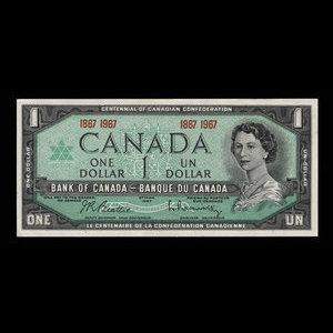 Canada, Bank of Canada, 1 dollar : 1967