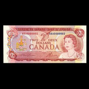 Canada, Bank of Canada, 2 dollars : 1974