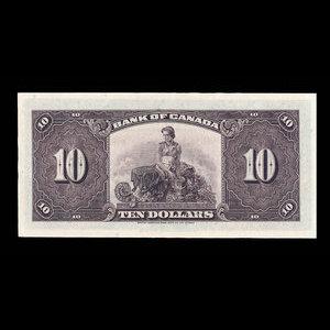 Canada, Bank of Canada, 10 dollars : 1935
