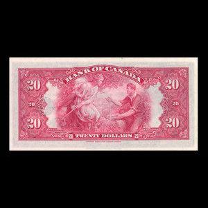 Canada, Bank of Canada, 20 dollars : 1935