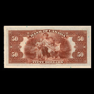 Canada, Bank of Canada, 50 dollars : 1935