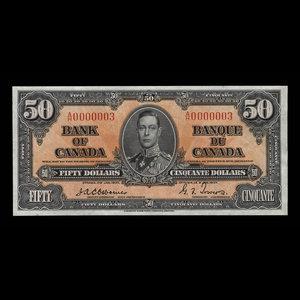 Canada, Bank of Canada, 50 dollars : January 2, 1937