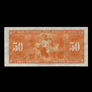 Canada, Bank of Canada, 50 dollars : January 2, 1937