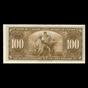 Canada, Bank of Canada, 100 dollars : January 2, 1937