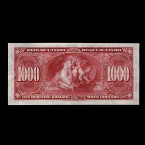 Canada, Bank of Canada, 1,000 dollars : January 2, 1937
