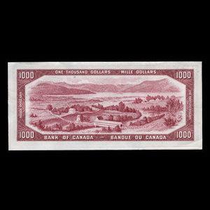 Canada, Bank of Canada, 1,000 dollars : 1954