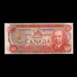 Canada, Bank of Canada, 50 dollars : 1975