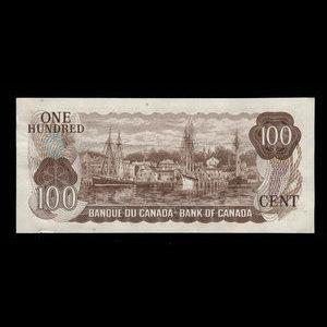 Canada, Bank of Canada, 100 dollars : 1975