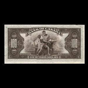 Canada, Bank of Canada, 100 dollars : 1935