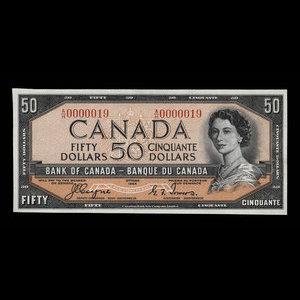 Canada, Bank of Canada, 50 dollars : 1954