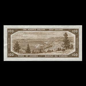 Canada, Bank of Canada, 100 dollars : 1954