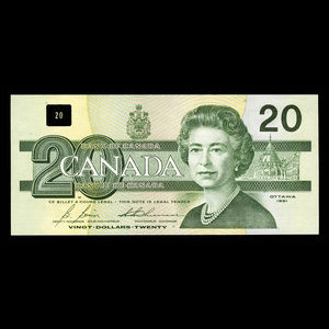 Canada, Bank of Canada, 20 dollars : 1991