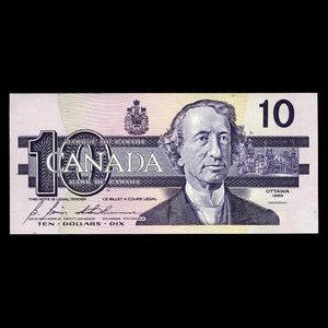 Canada, Bank of Canada, 10 dollars : 1989