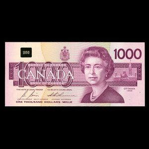 Canada, Bank of Canada, 1,000 dollars : 1988