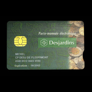 Canada, Caisses Populaires Desjardins, no denomination : August 2002
