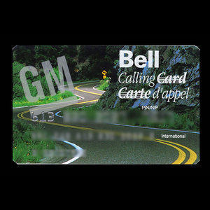 Canada, Bell Canada, no denomination : November 1993