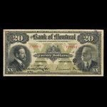 Canada, Bank of Montreal, 20 dollars <br /> November 3, 1914