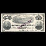 Canada, Banque d'Hochelaga, 5 piastres <br /> June 1, 1894