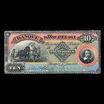 Canada, Banque d'Hochelaga, 10 piastres <br /> June 1, 1889