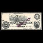 Canada, Banque d'Hochelaga, 5 piastres <br /> September 1, 1880