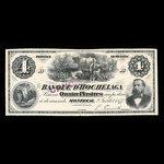 Canada, Banque d'Hochelaga, 4 piastres <br /> July 2, 1877