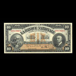 Canada, La Banque Nationale (National Bank), 10 dollars <br /> November 2, 1922
