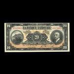 Canada, La Banque Nationale (National Bank), 20 dollars <br /> November 2, 1922