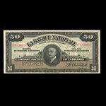 Canada, La Banque Nationale (National Bank), 50 dollars <br /> November 2, 1922