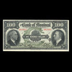 Canada, Bank of Montreal, 100 dollars <br /> January 2, 1931