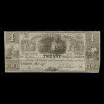 Canada, Agricultural Bank (Toronto), 4 dollars <br /> October 1, 1837
