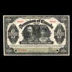 Canada, Dominion of Canada, 50,000 dollars <br /> January 2, 1924