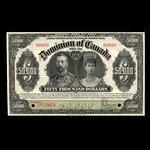 Canada, Dominion of Canada, 50,000 dollars <br /> January 2, 1924