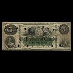 Canada, Province of Canada, 5 dollars <br /> October 1, 1866