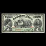 Canada, Dominion of Canada, 4 dollars <br /> January 2, 1902