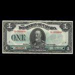 Canada, Dominion of Canada, 1 dollar <br /> July 2, 1923